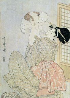喜多川歌麿 母と子.jpg